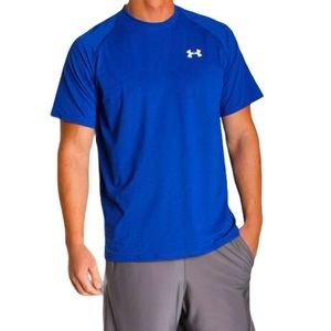 Under Armour Heat Gear Royal Blue Short Sleeve Athletic T-shirt Size Large
